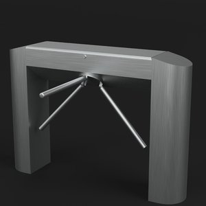 3D tripod turnstile gate