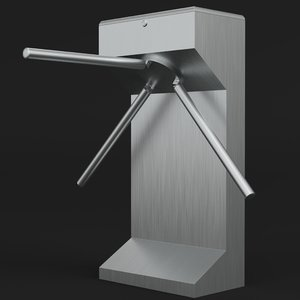 3D vertical turnstile gate
