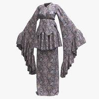Female Kimono Robe 001 (8K PBR)