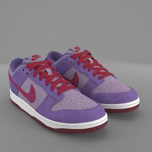 3D nike dunk shoes plum