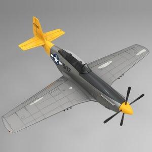 607 north american p-51 mustang 3D model
