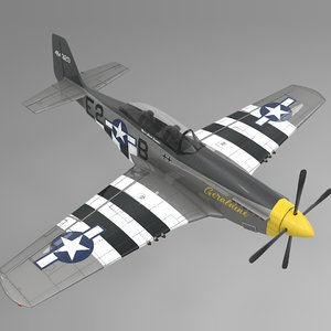 e2b north american p-51 mustang 3D model