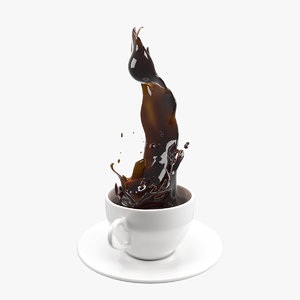 3D model coffee splash