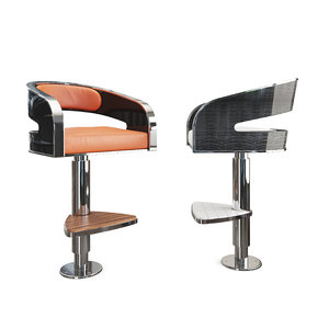 3D tyc-134 bar chair