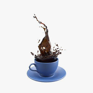 3D coffee splash v1 model