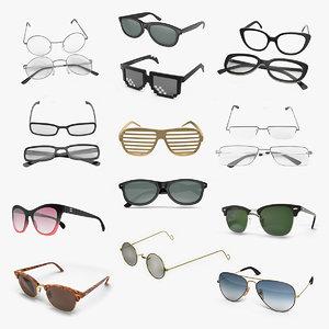 3D model glasses 9