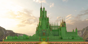 3D castle wizard oz