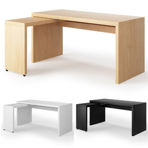 ikea malm desk pull-out 3D model