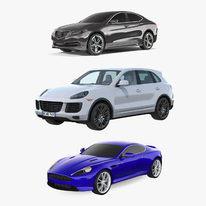 luxury cars 2 3D model