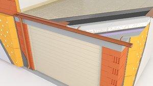 information balconies terrace garage 3D model