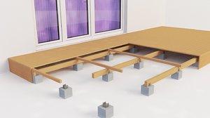 3D balconies terrace 3