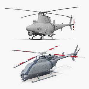 northrop grumman unmanned helicopters 3D model