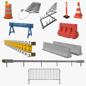 3D road barriers 7 model