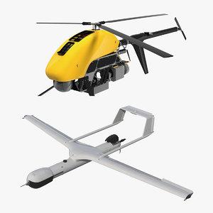 uav drone rigged 3D