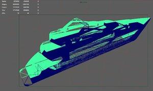 3D yacht boat ship