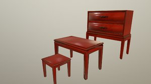 red furniture 3D model
