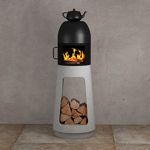 3D wood stove design wuehl model