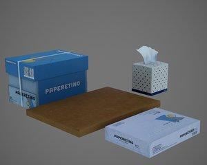 paper film pbr 3D model