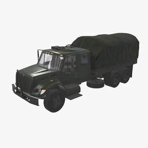 navistar military truck car vehicle 3D model