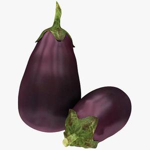 purple eggplant 3D