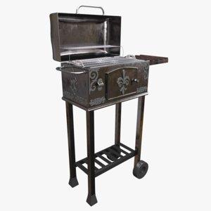 realistic grill 3D model