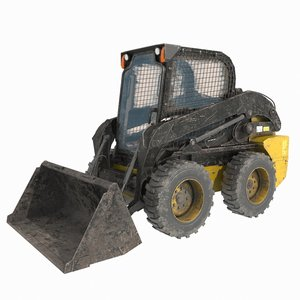 3D skid steer loader