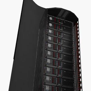 server rack tower 3D model