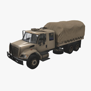 3D model navistar military truck car vehicle