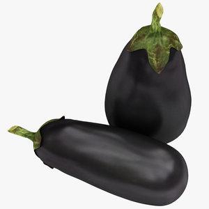 black eggplant 3D model