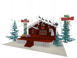 christmas stage exhibition 3D model