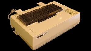 vintage dot matrix printer 3D model