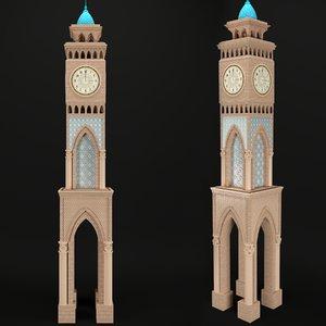 3D east clock tower model
