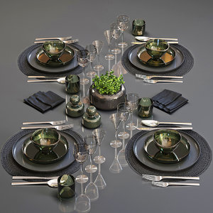 table setting 25 3D model