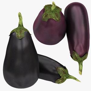 3D purple eggplant