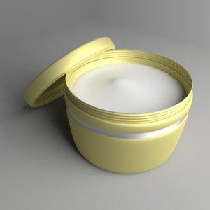 cream container 2 model