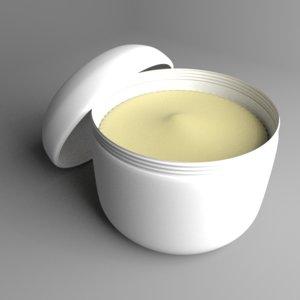 cream container 1 3D