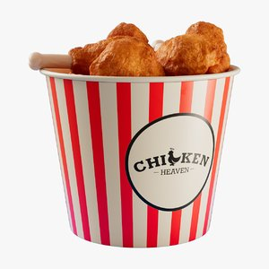 cartoon chicken bucket model