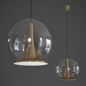 trumpet hanging lamp bosa 3D model
