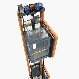 elevator structure model