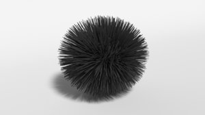 cartoon sea urchin modeled 3D model