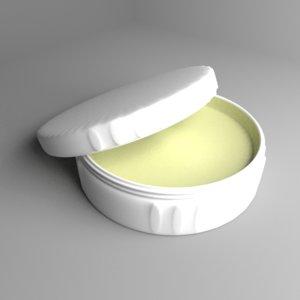 cream container 3 3D model
