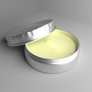 cream container 4 3D model