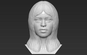 brigitte bardot bust printing 3D model