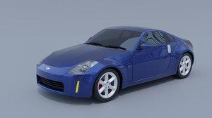 3D nissan 350z coupe model
