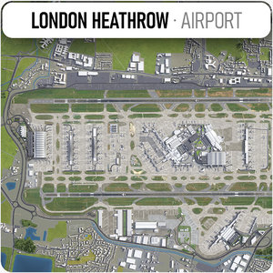 london heathrow lhr 3D model