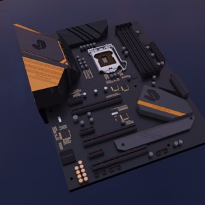 mainboard asus strix 3D model