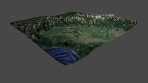 3D model piedmont italy