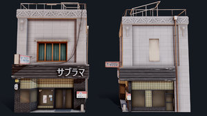 3D japanese style shop model