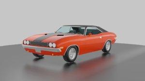 3D car dodge challenger 1970