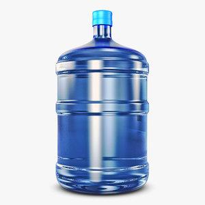 water bottle container v 3D model